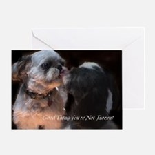 Shih Tzu Funny Greeting Card