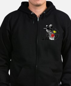 Funny Paintball Zip Hoodie (dark)