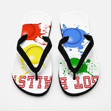 Splattered Paint Balls Flip Flops