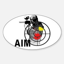 Paintball Shooter Gun Sight Aim Decal