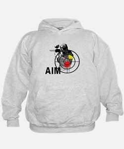 Paintball Shooter Gun Sight Aim Hoodie