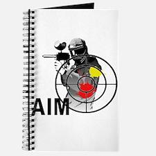 Paintball Shooter Gun Sight Aim Journal