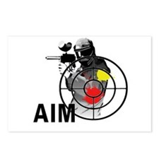 Paintball Shooter Gun Sig Postcards (Package of 8)