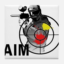 Paintball Shooter Gun Sight Aim Tile Coaster