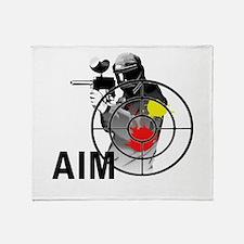 Paintball Shooter Gun Sight Aim Throw Blanket