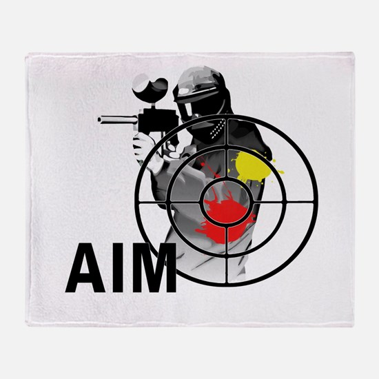 Paintball Shooter Gun Sight Aim Throw Blanket