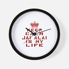 Keep Calm and Jai Alai Wall Clock