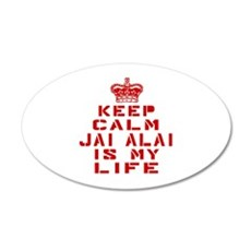 Keep Calm and Jai Alai Wall Decal