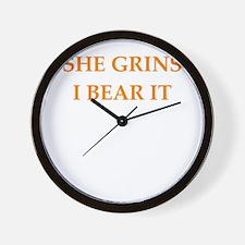 grin and bear it Wall Clock