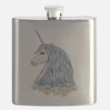 White Unicorn Drawing Flask