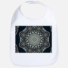 Ornate Exotic Mandala in Black Cream White and Bib