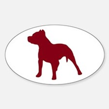 Pitbull Dk Red 1C Decal