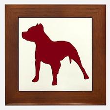 Pitbull Dk Red 1C Framed Tile