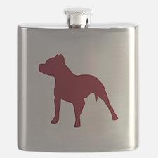 Pitbull Dk Red 1C Flask