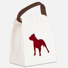Pitbull Dk Red 1C Canvas Lunch Bag