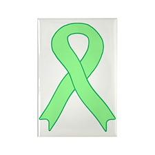 Light Green Ribbon Rectangle Magnet