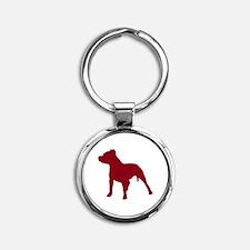 Pitbull Dk Red 2 Keychains