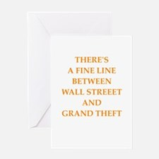 wall street Greeting Cards