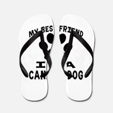 Canaan Dog Is My Best Friend Flip Flops