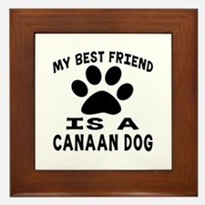 Canaan Dog Is My Best Friend Framed Tile