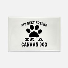 Canaan Dog Is My Best Friend Rectangle Magnet