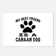 Canaan Dog Is My Best Fri Postcards (Package of 8)