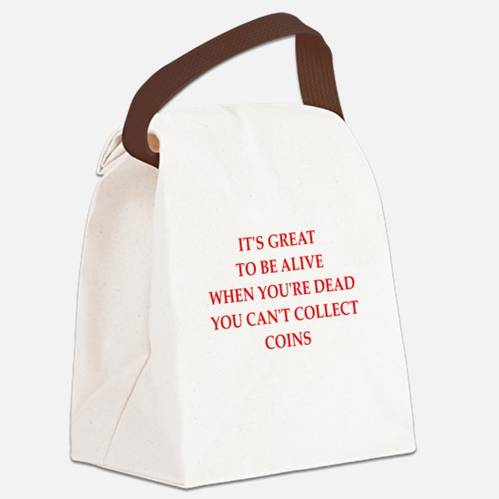 coins Canvas Lunch Bag