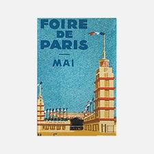 Vintage Paris Travel Poster Rectangle Magnet