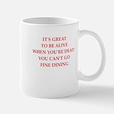 fine dining Mugs