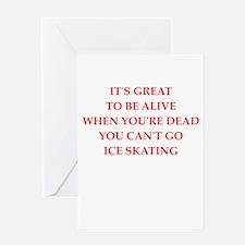 ice skating Greeting Cards