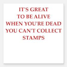 "stamp Square Car Magnet 3"" x 3"""