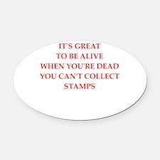 stamp Oval Car Magnet