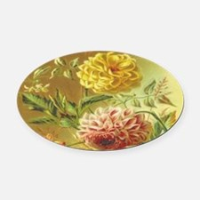 Unique Flower Oval Car Magnet