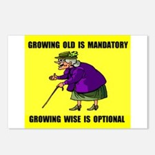 GROWING OLD Postcards (Package of 8)