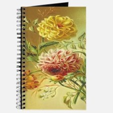 Jasmine Dahlia Vintage Flowers Journal
