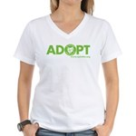 Adopt Women's V-Neck T-Shirt