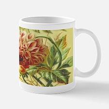 Jasmine Dahlia Vintage Flowers Mugs