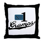 Number One Gramps Throw Pillow