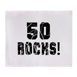 50th birthday Fleece Blankets