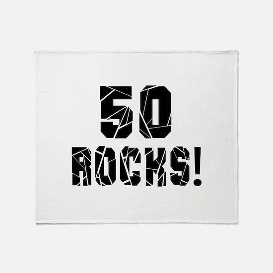 50 Rocks Birthday Designs Throw Blanket