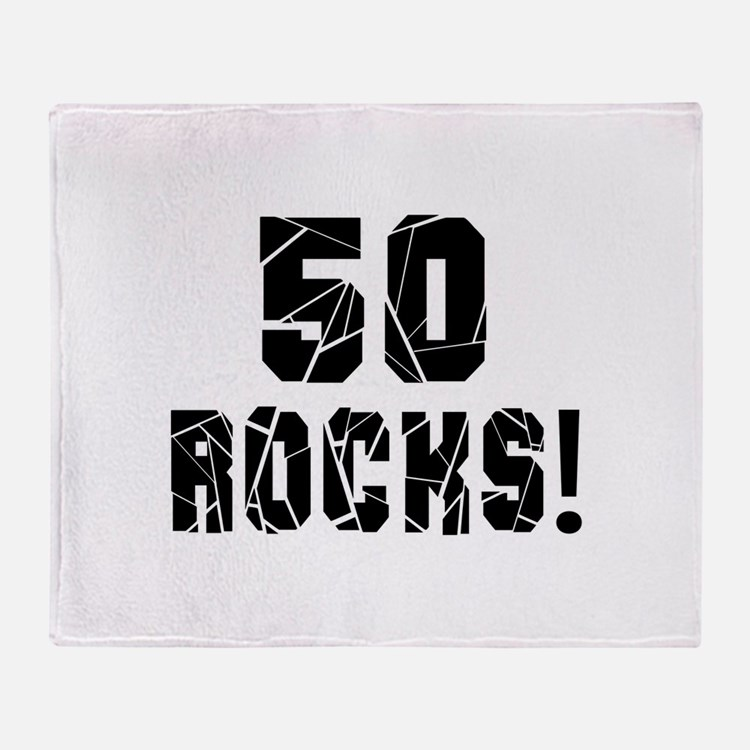 50 Rocks Birthday Designs Throw Blanket