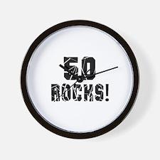 50 Rocks Birthday Designs Wall Clock