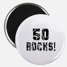 "50 Rocks Birthday Designs 2.25"" Magnet (100 pack)"