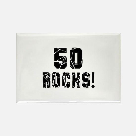 50 Rocks Birthday Designs Rectangle Magnet