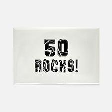 50 Rocks Birthday Desi Rectangle Magnet (100 pack)