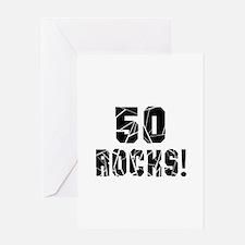 50 Rocks Birthday Designs Greeting Card
