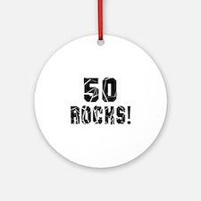 50 Rocks Birthday Designs Round Ornament