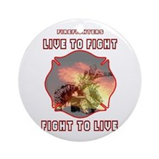 Live to Fight Ornament (Round)