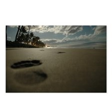 Unique Footprints sand Postcards (Package of 8)