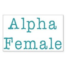 Alpha Female Rectangle Decal
